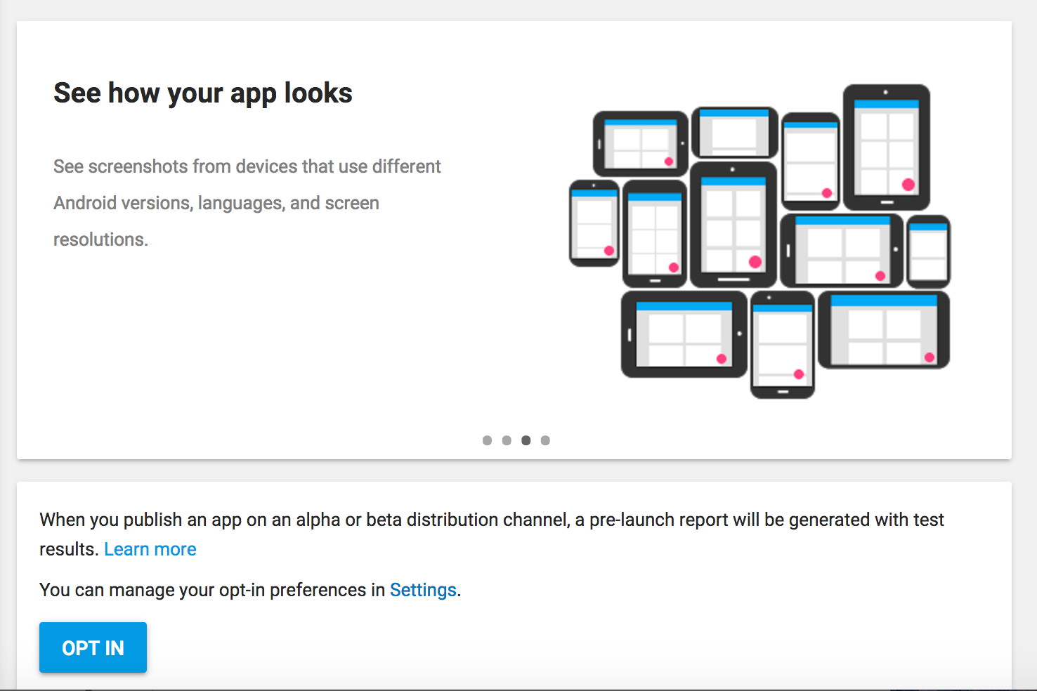 Google Developer Pre Launch Screenshot